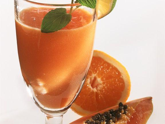 Papaya-Orangensmoothie