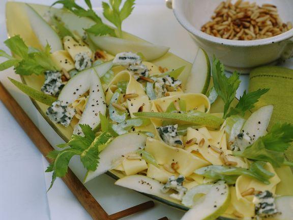 Pappardelle mit Käse und Birne