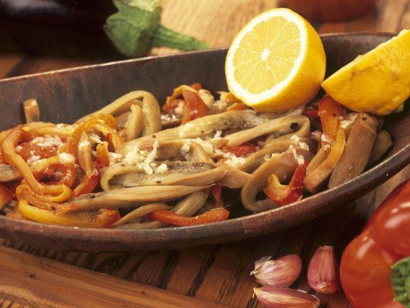 Paprika-Auberginen-Salat