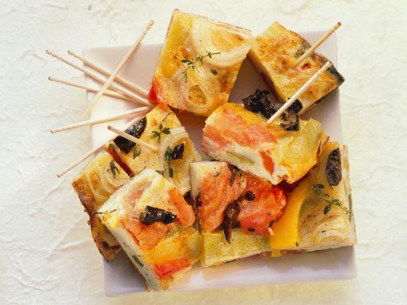 Paprika-Frittata-Häppchen