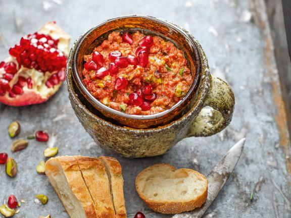 Paprika-Granatapfel-Paste Muhammara-Style