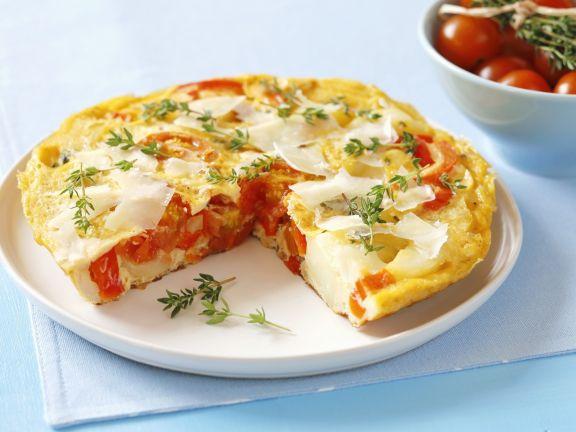 paprika kartoffel omelett auf spanische art rezept eat smarter. Black Bedroom Furniture Sets. Home Design Ideas