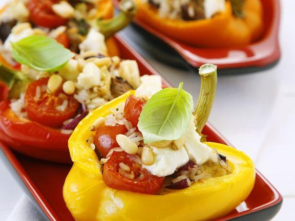 Paprika Mit Reis Feta Füllung Rezept Eat Smarter