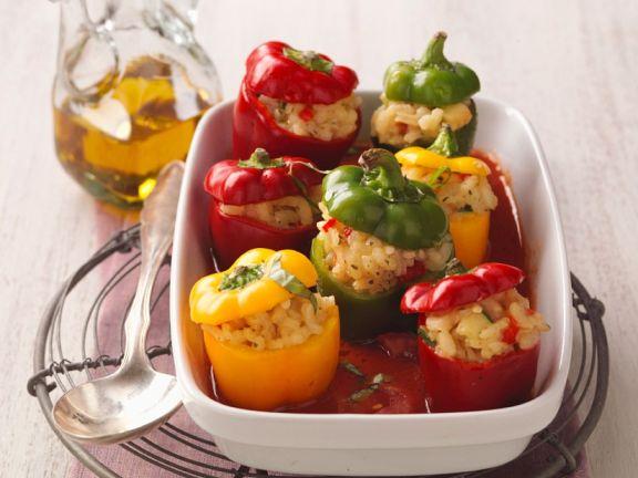 Paprika mit Reisfüllung (vegan)