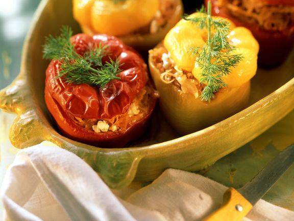 Paprika mit Sauerkrautfüllung
