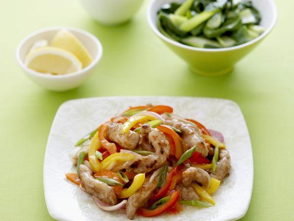 Paprika-Schweinefleisch-Pfanne