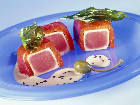 Paprika-Thunfisch-Happen