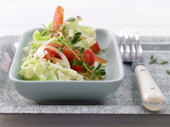 Paprika-Wirsing-Gemüse