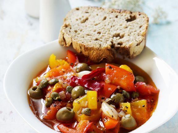 Paprikagemüse auf italienische Art Rezept | EAT SMARTER