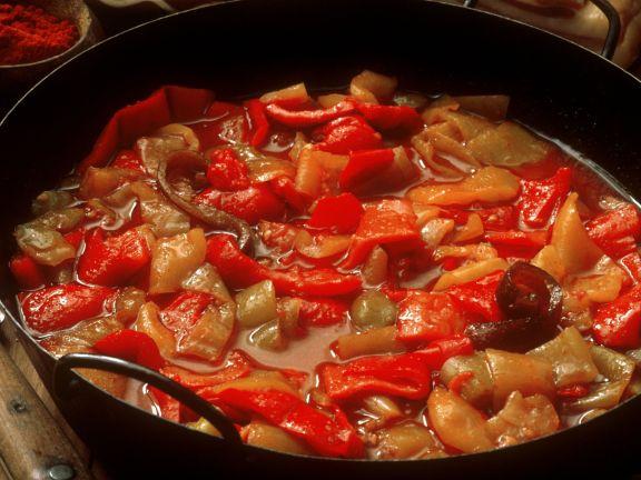 Paprikagemüse auf ungarische Art
