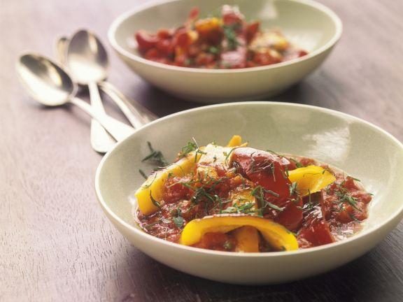 Paprikagemüse mit Tomatensugo