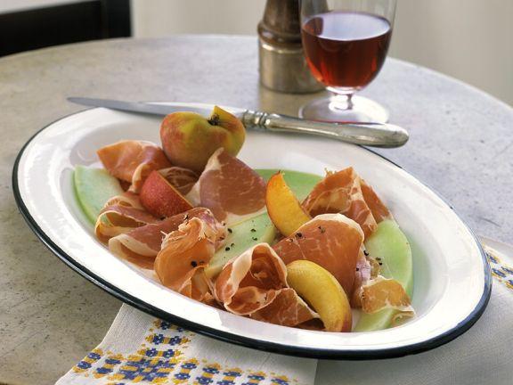 Parmaschinken mit Früchten