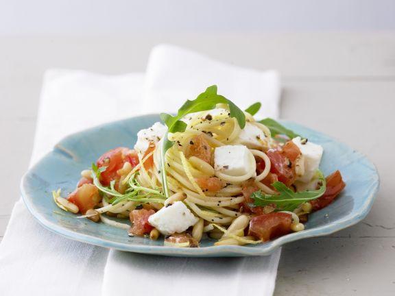 """Pasta """"Caprese"""" mit Rucola"""