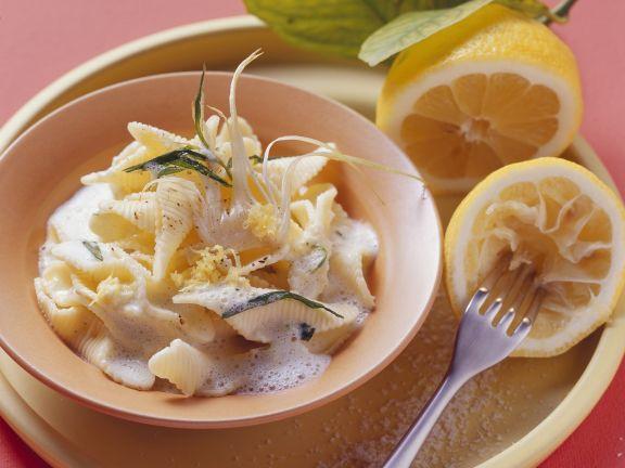 Pasta mit Champagner-Zitronen-Soße
