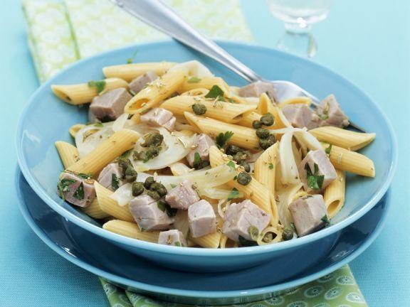 Pasta mit Fenchel, Thunfisch und Kapern