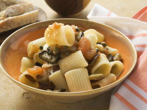 Pasta mit gegrilltem Gemüse