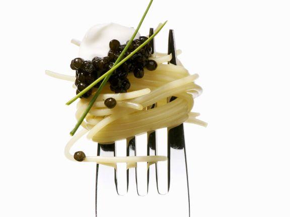 Pasta mit Kaviar