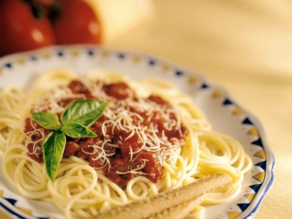 Pasta mit Tomatensauce