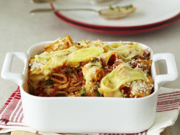 Pasta-Tomaten-Gratin