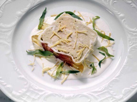 Pastete mit Estragon-Soße