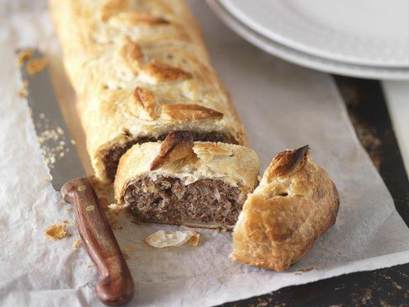 Pastete mit Fleischfüllung auf englische Art