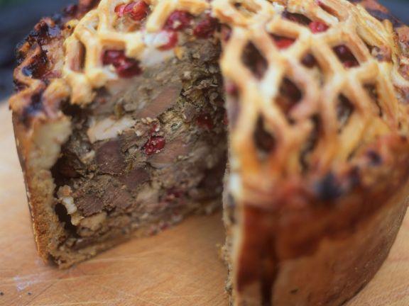Pastete mit Reh und Cranberries