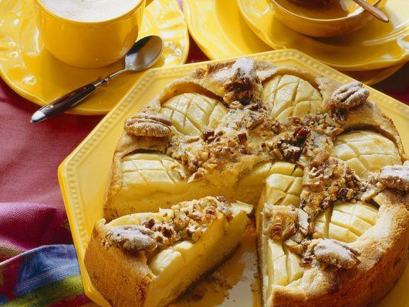 Pekannuss-Apfelkuchen