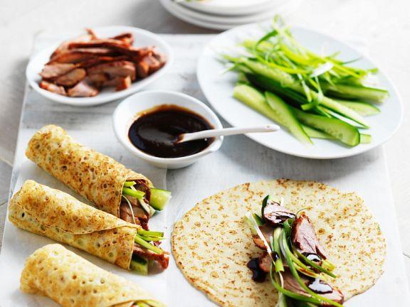 Pekingente mit Pfannkuchen