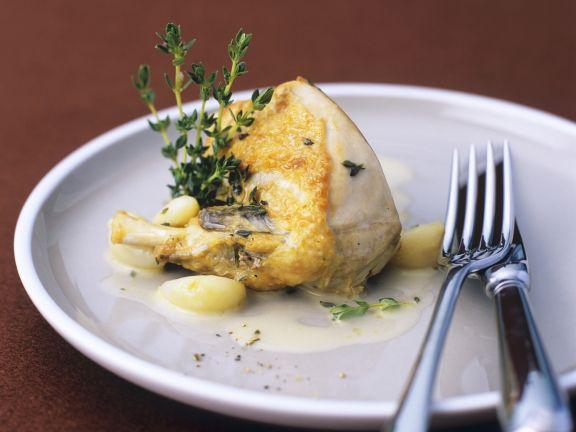 Perlhuhn mit Knoblauch-Zitronen-Sauce