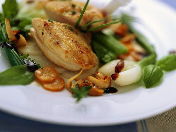 Perlhuhnbrust mit süßsaurem Gemüse