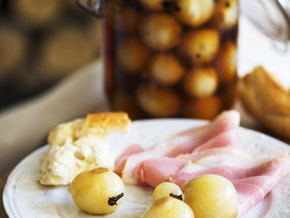 Perlzwiebeln in süß-saurer Marinade