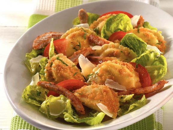 Pfannen Pasta Caesar's Salad