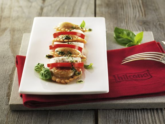 Pfannen Pasta-Caprese-Salat