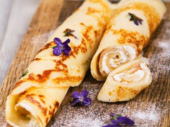 Pfannkuchen mit Käsecreme