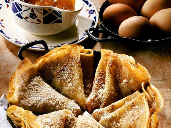 Pfannkuchen mit Konfitüre
