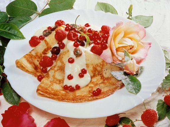 Pfannkuchen mit Vanillecreme