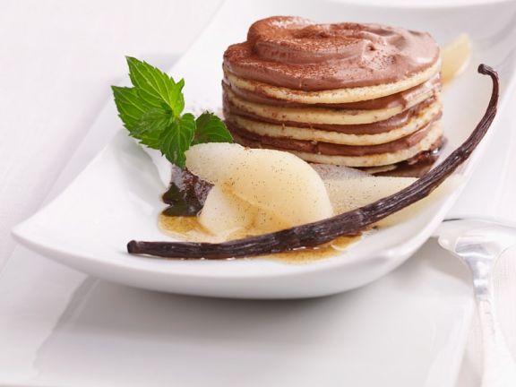 Pfannkuchen-Nougat-Türmchen