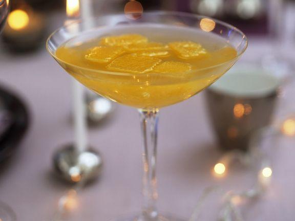 Pfirsich-Cocktail mit Sekt