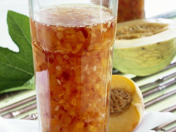 Pfirsich-Ingwer-Marmelade mit Melone