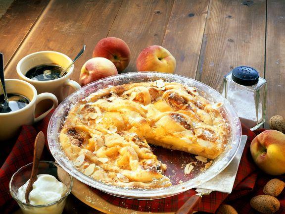 Pfirsich-Ingwer-Pie mit Mandeln