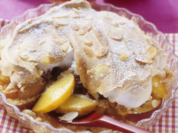 Pfirsich-Marzipan-Auflauf mit Baiser