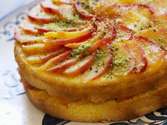 Pfirsich-Orangentorte