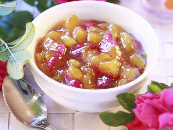 Pfirsich-Rosen-Marmelade