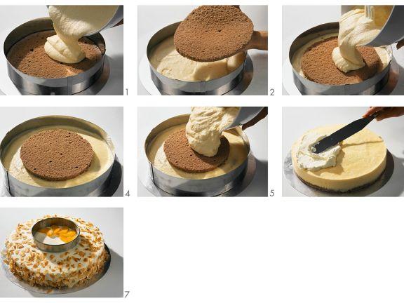 Pfirsich-Sahne-Torte zubereiten