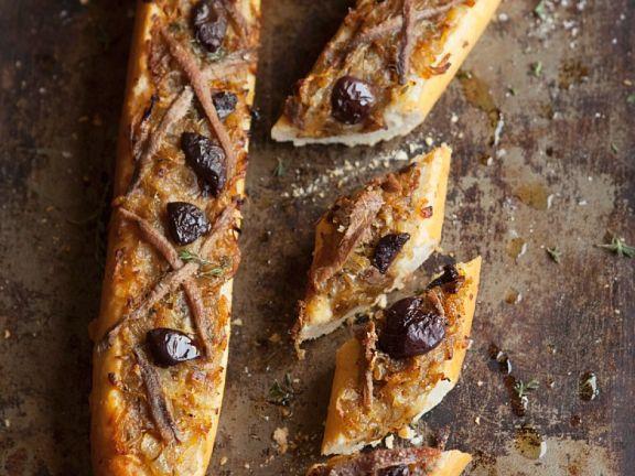 Pikant überbackenes Baguette