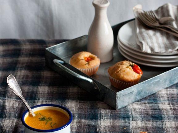 Pikante Dinkel-Muffins