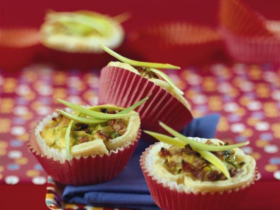 Pikante Muffins mit Speck