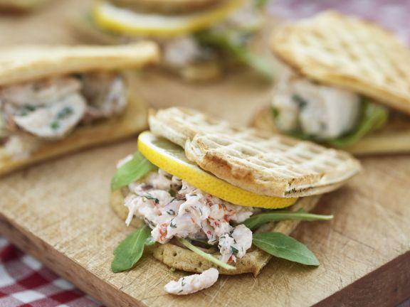 Pikante Waffeln Rezept : pikante waffeln mit garnelen rezept eat smarter ~ Yasmunasinghe.com Haus und Dekorationen