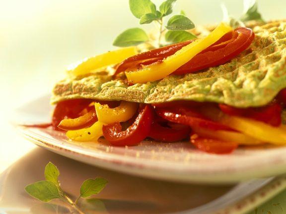 Pikante Waffeln mit Gemüse
