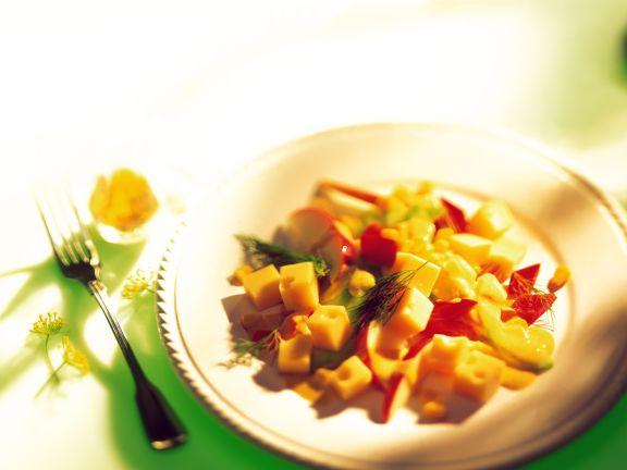 Pikanter Apfel-Käse-Salat